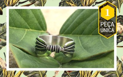 Anel fios pequeno oxidado prata 950 - Peça Única   sob encomenda