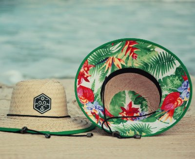 Chapéu de Palha Estampado 99Praia