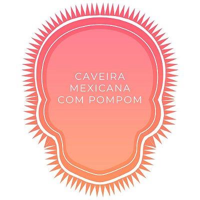 Canga de Praia Personalizada Caveira com pompom