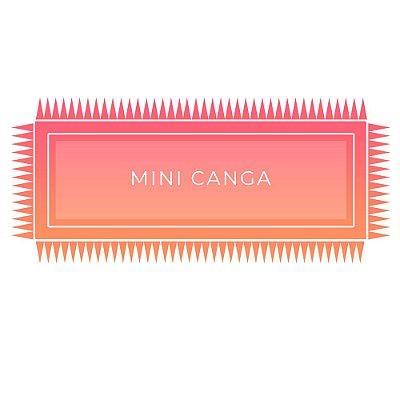 Mini Canga de Praia Personalizada com pompom - Tecido 100% Viscose