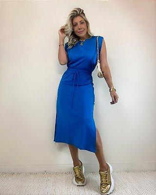 Vestido Midi Isa Baldo Azul