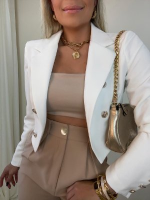 Blazer Cropped Branco