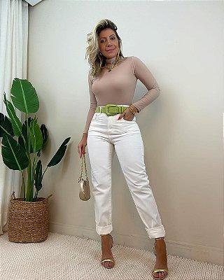 Calça Jeans Mom Off White