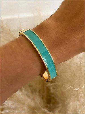 Bracelete Esmaltado Azul