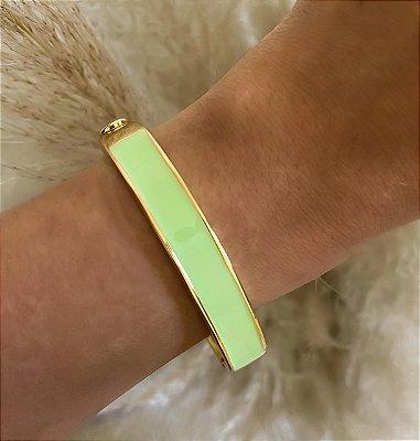Bracelete Esmaltado Verde