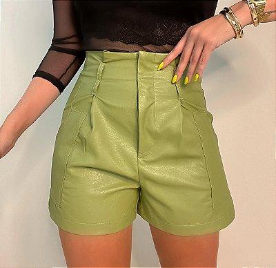 Shorts Couro Eco Verde