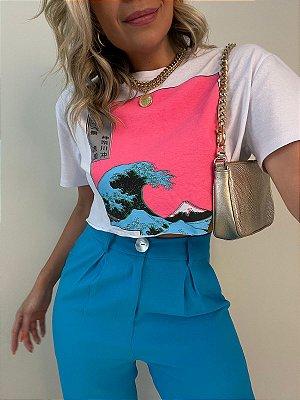 T-shirt Cropped Mar Branca