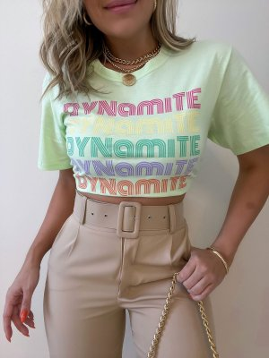 T-shirt Cropped Dynamite Verde