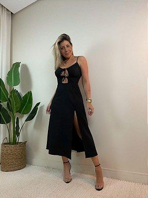 Vestido Itália Midi Preto