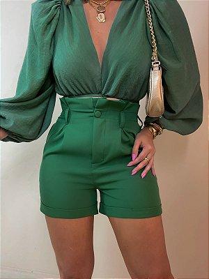 Shorts Cinto Grécia Verde