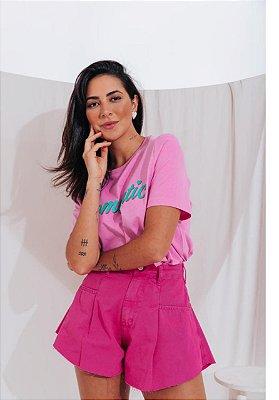 Shorts Jeans Godê Isa Baldo Pink