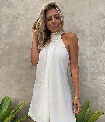 Vestido Lenço Curto Isa Baldo Branco