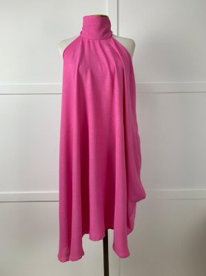 Vestido Lenço Curto Isa Baldo Rosa Chiclete
