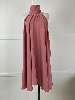 Vestido Lenço Curto Isa Baldo Rosa Queimado