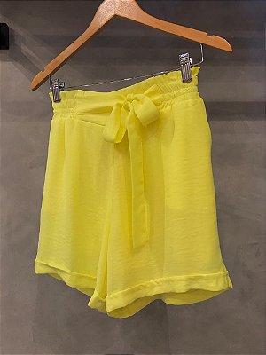Shorts Amarração Isa Baldo Amarelo