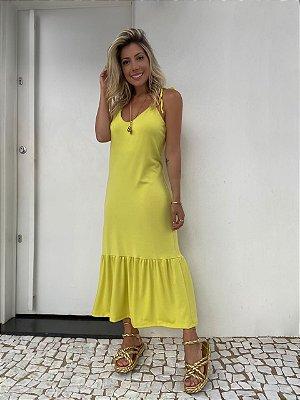 Vestido Midi Isa Baldo Verde Lima