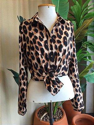 Camisa Isa Baldo Animal Print