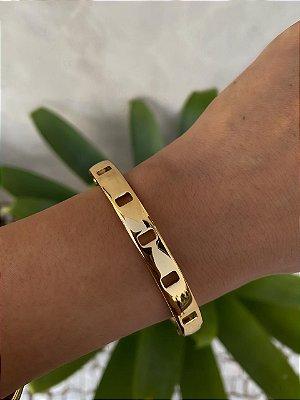 Bracelete Vazado Isa Baldo Dourado