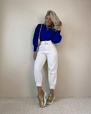 Calça Jeans Bag Isa Baldo Off White