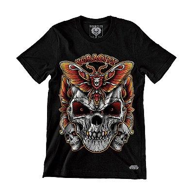 Camiseta Skull Borboleta - Voracity