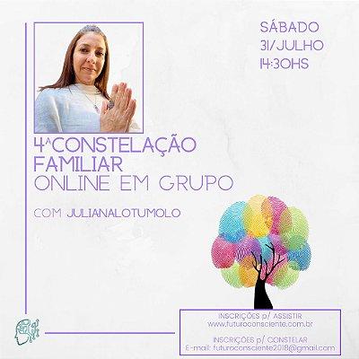 """4ª CONSTELAÇÃO FAMILIAR ONLINE em GRUPO - """"INSCRIÇÃO SOMENTE PARA ASSISTIR"""""""