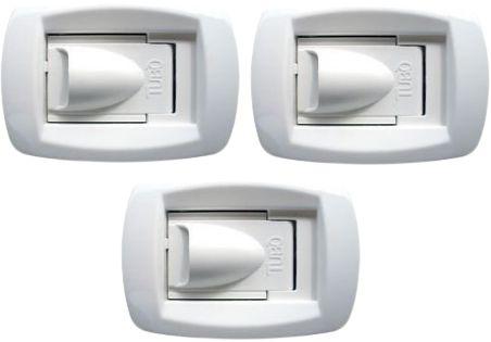 KIT com 3 Tomadas de aspiração Sirio New Air branca Aertécnica