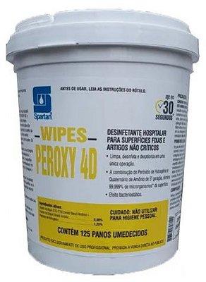 Wipes Peroxy 4D - 125 Panos Umidecidos