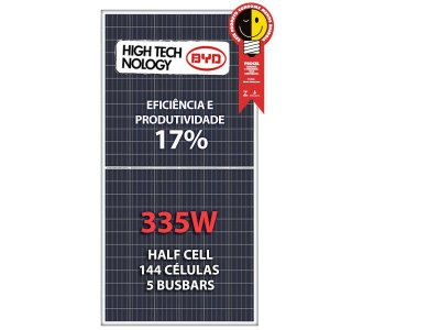 PAINEL SOLAR FOTOVOLTAICO 335w BYD