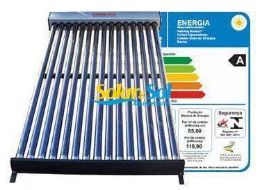 Coletor Solar a VÁCUO - 30 TUBOS - 600 litros Termomax