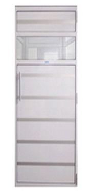 Porta De Alumínio branco 0,99 X 1,99 m c/contra marco P/ SAUNAS - SODRAMAR