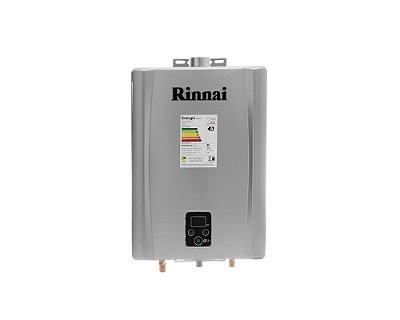 Aquecedor a Gás Rinnai REU-E210 PRATA - GN - 21 L/min