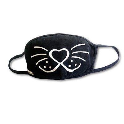 Máscara Infantil Bigode de Gato
