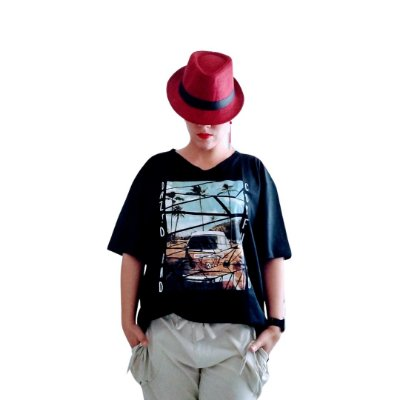 Camiseta kombi preta