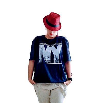 Camiseta ny azul marinho