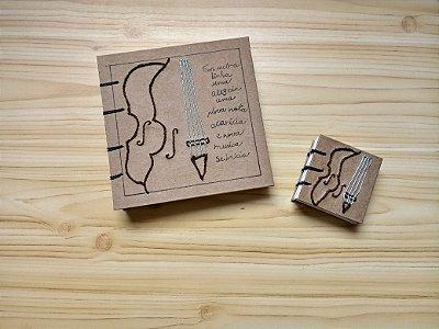 Caderno Violino quadrado