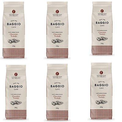 6 Cafés Chocolate Trufado Aromatizados Baggio moído 250g