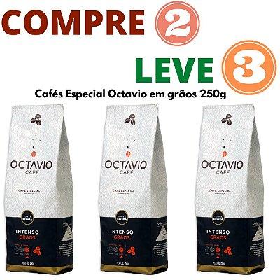 Café Octavio em Grãos Intenso 250g - Leve 3 Pague 2