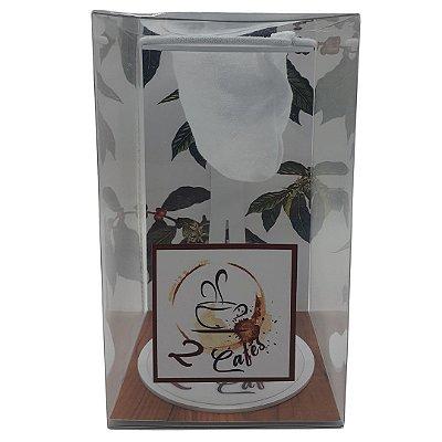 Coador de café Individual com filtro de pano (Suporte Branco)