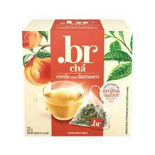 Chá Verde com damasco .br com 10 Sachês