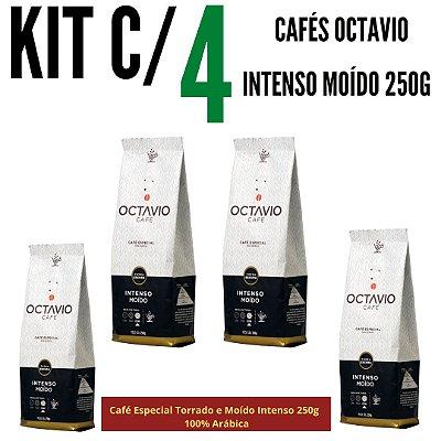 Kit c/ 4 Cafés Octavio Especial Torrado e Moído Intenso 250g