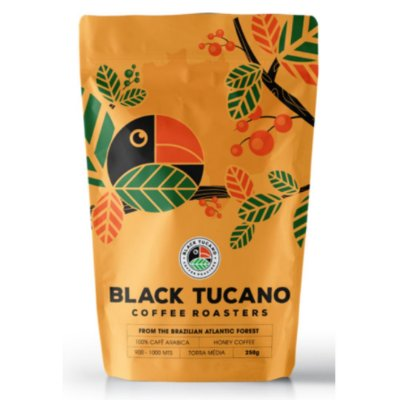 Café Black Tucano Honey Coffee em grãos 250 g