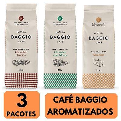 3 Cafés Aromatizados Baggio (Chocolate Trufado / Chocolate com Menta e Caramelo)