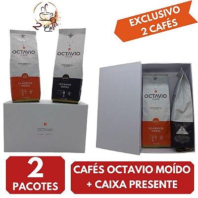 2 Cafés Especiais Octavio Clássico e Intenso  + Caixa presente