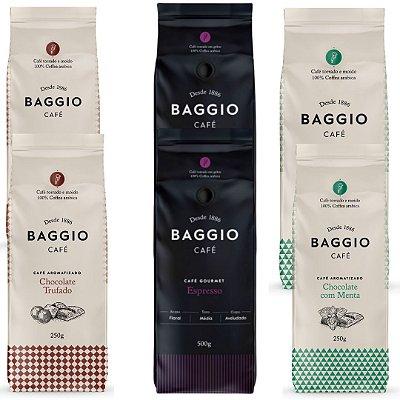 6 Cafés Aromatizados Baggio (Chocolate Trufado / Chocolate com Menta e Espresso)