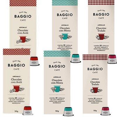 Kit com 6 Cápsulas de Cafés Aromatizados Baggio (Leve 6 Pague 5)