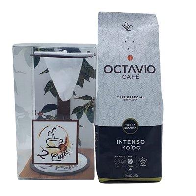 Coador de café Individual  + Café Octavio Intenso moído 250g
