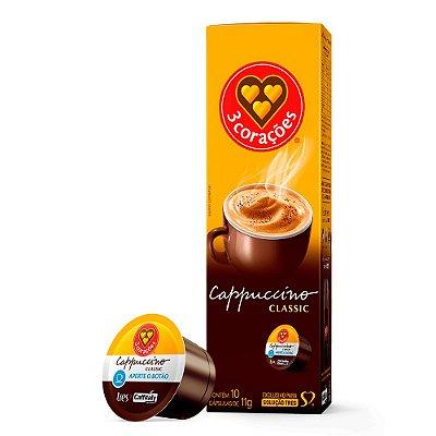 Cappuccino Classic 3 Corações com 10 unidades
