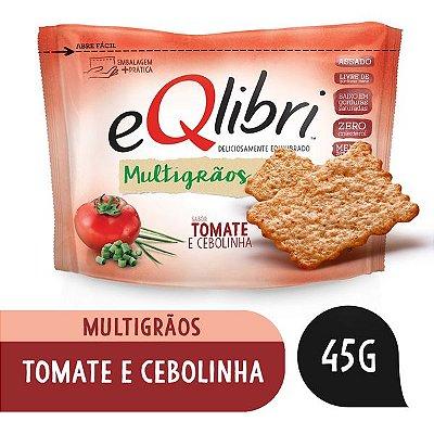 Biscoito Tomate e Cebolinha Eqlibri Multigrãos Pacote 45g