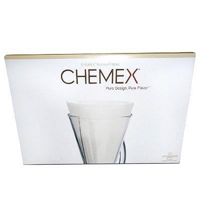 Filtro Chemex Meia Lua Branco 100 unidades - para 3 xícaras