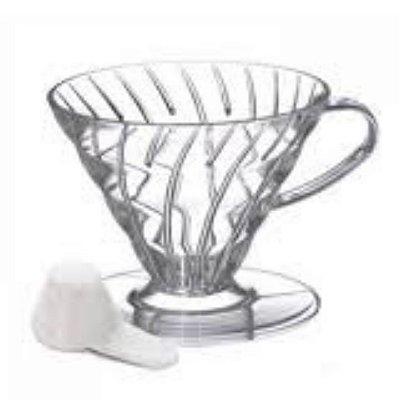 Suporte para filtro de café Hario V60 02 Transparente + Colher medidora